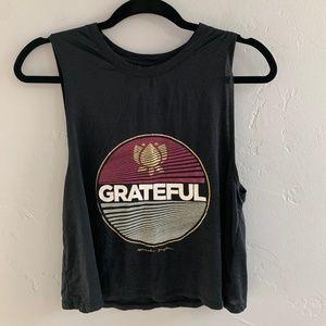 Spiritual Gangster Grateful Cropped Tank Top M